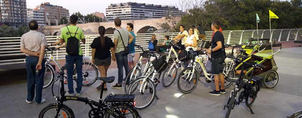 Resultado de imagen de zaragoza bicicleta ruta